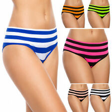 Womens Classic Briefs Striped Soft Panties Ladies Knickers Sizes S-XL FG3912