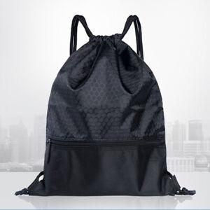 Waterproof Sports Drawstring Training Backpack Soccer Bag Rucksack Shoulder Bag