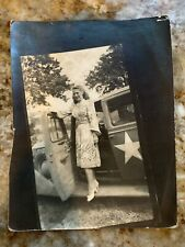 Ww2 France 1944 A Young Dinah Shore In Military Jeep Silver Albumen