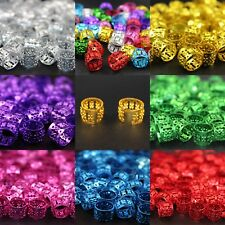 20 x Dreadlock Beads, Cuffs, Clips for Braids, Hair Extensions, All Colours