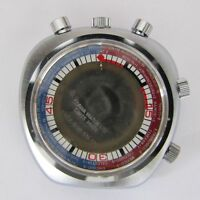 SORNA BULLHEAD WORLDTIME chronographe case with stem. NEW OLD STOCK swiss made