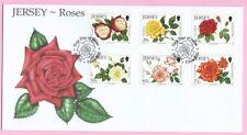 JERSEY Post 2010  FDC - ROSES  (Stamp set) - Special Handstamp