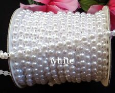 5/16 inch wide Half Round Pearls Beads String  white color price for 1 yard