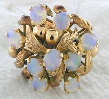 Vintage 18K Yellow Gold Opal Harem Ring