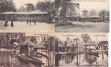 Lot 4 cartes postales anciennes MARSEILLE EXPO COLONIALE af occidentale soudan