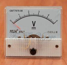 0 - 5V DC Voltmetro ANALOGICO PANNELLO VOLTMETRO ANALOGICO Chiaro Nuovo