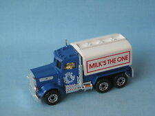 Lesney Matchbox Peterbilt Milk Tanker White Door 75mm UB