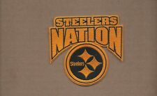 NEW 3 3/4 X 4 INCH PITTSBURGH STEELERS NATION IRON ON PATCH FREE SHIPPING