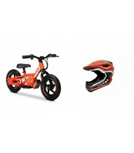"""Amped A10 12"""" Kids Electric Balance Bike Combo Red With Revvi Helmet"""