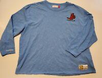 St. Louis Cardinals Mitchell & Ness Long Sleeve Shirt Sz 3XLB Powder Blue