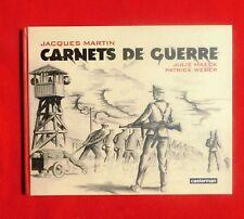 JACQUES MARTIN. Carnets de Guerre. Casterman 2009. Album cartonné oblong EO