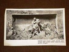 Garibaldi passa l'acqua a guado salvando Anita Gruppo dello scultore Zocchi