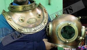 Vintage Collectable Siebe Gorman Diving Helmet 12 Bolt Deep Sea Divers Helmet