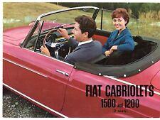 Fiat 1200 & 1500 Cabriolet 1959-60 UK Market Foldout Sales Brochure