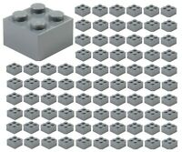 ☀️100x NEW LEGO 2x2 DARK BLUISH GRAY Bricks (ID 3003) BULK Parts Starwars