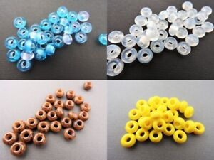 Czech large hole glass spacer beads 6 x 9 mm pack of 10