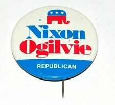 1968 RICHARD NIXON OGILVIE 1.75 INCH campaign pin pinback button badge political