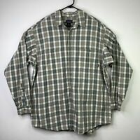 Patagonia Shirt Mens XL Long Sleeve Button Front Gingham Plaid Organic Cotton