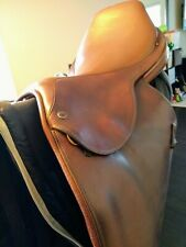 """Used 18"""" Tad Coffin hunter jumper saddle in good condition. Includes saddle bag."""