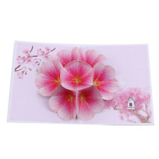 3D Pop Up Thank You Flower Greeting Card Blossom Valentine's Day Gift LP