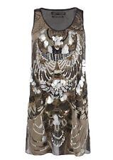 All Saints Spitalfields Titaness Dress Sz 6 Embellished Hand Sown Sleeveless BLK