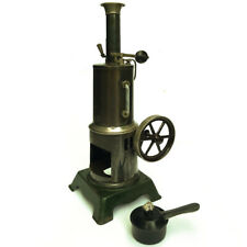A FINE ANTIQUE BING VERTICAL LIVE STEAM ENGINE COMPLETE WITH ITS BURNER