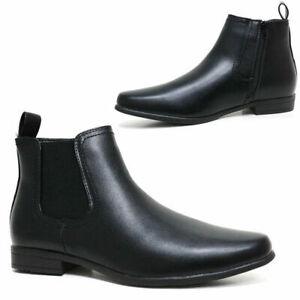 Mens Chelsea Boots Cushion Walk Dealer Ankle SMART CASUAL SLIP ON SHOES UK 6--12