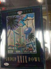 Super Bowl XXIX Program Autographed By Steve Young JSA COA