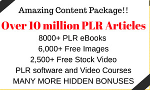 Get Over 10 Million PLR Articles, digital Books, Book Covers, Video Training
