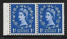 Sb22 1d Wilding Tudor booklet pane perf type E Unmounted Mnt