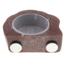 Resin Magnetic Feeding ledge with Cup For Gecko Diet Food &Water Brown