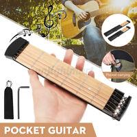 4 / 6 String Fret Pocket Guitar Portable MIni Akustikgitarre Praxis-Tool Gadget