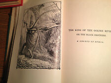 JOHN RUSKIN-THE KING OF THE GOLDEN RIVER + IN COLLECTED WORKS  c1900-PLATES