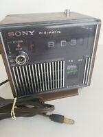 Sony Digimatic TR-C440W Alarm Clock AM Radio Solid State PARTS REPAIR REPAIR