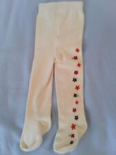 GYMBOREE 0 6 Months TIGHTS Fall Winter Cream Ivory Flowers Floral