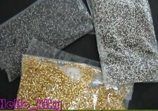 30000Pcs crimps findings tube beads golden silver nickel