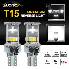 Auxito T15 921 912 Led Reverse Backup Light Bulbs 6000K White For Gmc Ford Chevy(Fits: Neon)