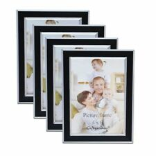 Giftgarden 4x6 Picture Frames Multi Photo Frame Set of 4 pcs, Black
