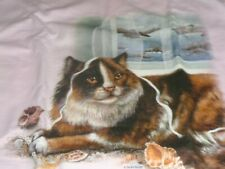 Cat Tee Shirt Size Small Pink Color 100% Cotton