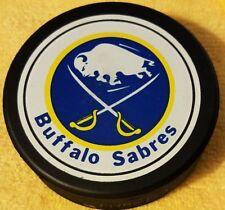 BUFFALO SABRES  OLD NHL OFFICIAL GENERAL TIRE SLUG CANADA HOCKEY PUCK OLD GEM!