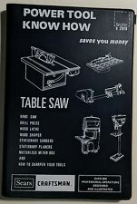 Power Tool Know How, Table Saw and Other Tools, Sears Craftsman