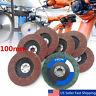 100mm Flap Wheels Grinding Sanding Discs 60/80/120/240/320 Grit Angle Grinder