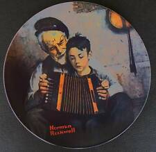 """Knowles Norman Rockwell """"The Music Maker"""" Collector Plate Limited Edition 1981"""