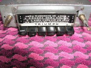 Triumph AM Car Radio model pf60 12v neg