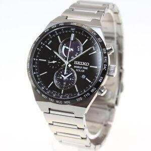 SEIKO SPIRIT SMART SBPJ025 Chronograph Solar Men's Watch New in Box