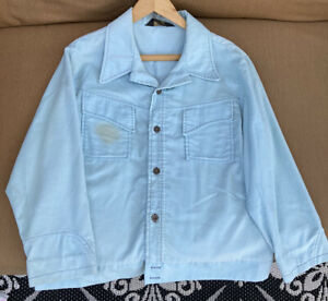 Vintage 70's Light Blue Corduroy Jacket Size Medium