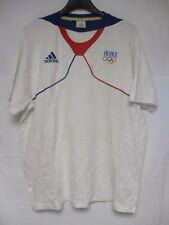 T-shirt ADIDAS Equipe de FRANCE Jeux Olympiques blanc coton 186 XL