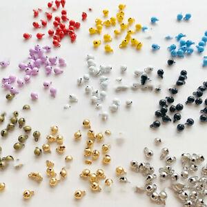 10PCS Dollhouse Mini Bell Doll Pendant Jewelry DIY Clothing Copper Decor Craft
