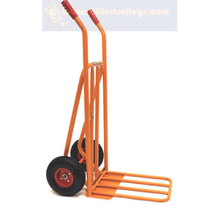 Ollies Trolleys.Extended Load Plate Sack Truck. Puncture Proof Tyres. OT1001W6