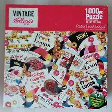 PUZZLE Vintage KELLOGG'S Retro FRUIT LOOPS 1000 Pieces SEALED Family Fun
